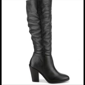 $279 Matisse Raquel Black Leather Tall Boots